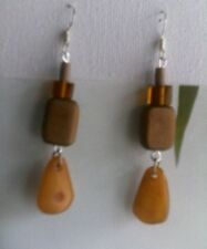 Amber and Wood faux Amber Elegant vintage amber earrings real