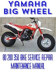 BEST Yamaha Big Wheel 80 200 350 Bike Service Repair Maintenance Shop Manual CD
