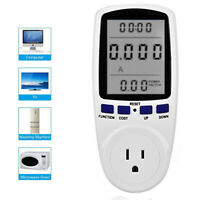 Energy Monitor KWH Calculator Usage Plug In Electricity Power Consumption Meter