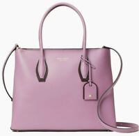 NWT Kate Spade Eva Satchel Crossbody Pink Mauve Leather WKRU6470 $409 Retail