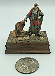 HAND PAINTED Lead Metal Toy Soldier Pirate w/ Woman Slave on Base SEE DETAILS