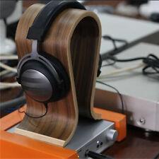 U-shape Rack Wooden Headset Display Stand Earphone Hanger Holder Headphone Rack