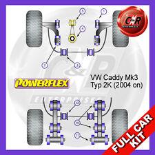 VW Caddy Mk3 04 on Powerflex Complete Bush Kit Front Wishbone Bushes Adjustable