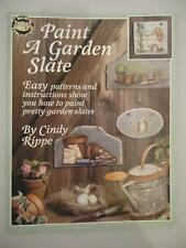 Paint a Garden Slate Tole Decorative Folk Art Painting Patterns Rippe Plants