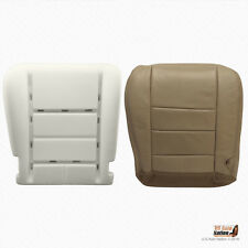 2002 Ford F250 F350 Lariat Driver Bottom Tan Perforated Leather Seat Cover/Foam