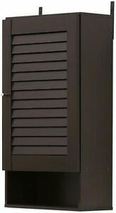 Furinno Wooden Wall Storage Cabinet Louvre Door