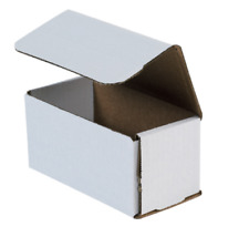 "1-500 Choose Quantity 6x3x3 Corrugated White Mailers Packing Boxes 6"" x 3"" x 3"""