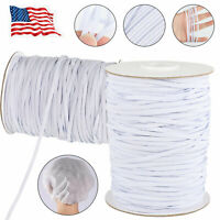 144 Yards Length 1/8 inch DIY Braided Elastic Band Cord Knit Stretch Band Sewing