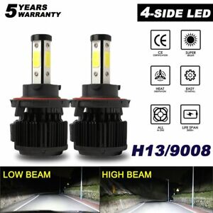 4side H13 9008 CREE LED Headlight Conversion Kit 2400W 360000LM Hi/Lo Beam Bulb