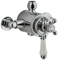 Victorian Traditional Thermostatic Dual Exposed Shower Mixer Brass Valve WRAS