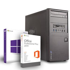 Neu PC Office Work Intel 4 Core i5 4x3,1Ghz 16GB RAM 480GBSSD DVDRW Win10 PRO