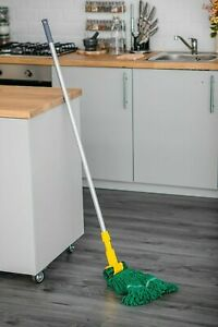 GREEN KENTUCKY MOP POLE COMMERCIAL INDUSTRIAL KITCHEN BATHROOM CLEANING 20OZ NEW