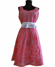 Para Mujeres Patinadora Cóctel Fiesta Noche Vestido Floral Textura Rockabilly Talla 14 AX28