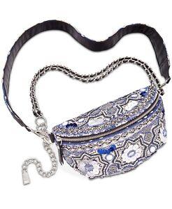 STEVE MADDEN Sabby Convertible Belt Bag Fanny Pack $98 Blue NWT