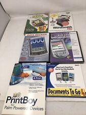Lot Of 6 Palm Handheld Pda Software Wordsmith Pocket Informant Street Maps