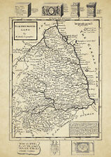 Northumberland County Map by Herman Moll 1724 - Reproduction