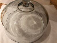 Round Elegant Glass Cake Dome Cover w/2-option Platters HOLIDAY./Events / Daily