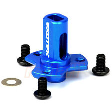 Exotek Racing Alu. Direct Spur Gear Mount Blue Team Associated B5 T4 SC10 #1379