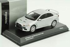 Mitsubishi Lancer Evolution X GSR Cool Silver Metallic 1:43 KYOSHO