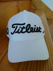 Titleist Pro 1 FJ Golf Cap White With Black Lettering  Men's Adjustable