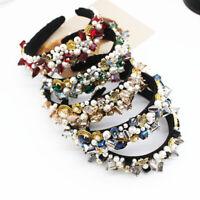 Baroque Ladies Hairband Pearl Crown Embellished Headband Crystal Wedding Party