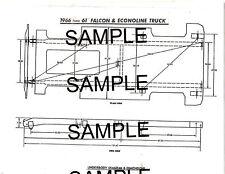 1964 1965 1966 CHEVROLET VAN MODEL G-10 FRAME DIMENSIONS CHART DIAGRAM 6166BKM2