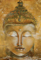 Framed Print - The Head of a Golden Buddha (Picture Poster Art Buddhist God)