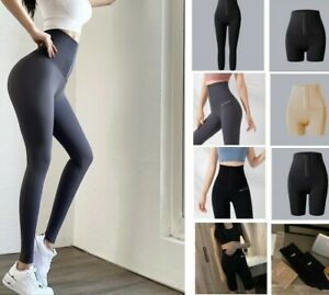 High Waisted Sports Leggings Women S~XL Push Up Elastic Exercise Sexy Yoga Pants