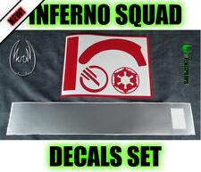 Tie Fighter INFERNO SQUAD Battlefront Complete Decal helmet KIT STAR WARS prop