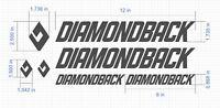 Custom Diamondback bike Frame Decal Set. Pick Your Color. USA Seller!
