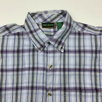 Urban Color Button Up Shirt Mens XXL Multicolor Plaid Short Sleeve Casual