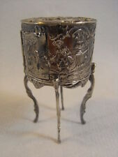 ANCIEN GUERIDON TABLE ARGENT MASSIF CHERUBIN ROMANTIC MAISON POUPEE STERLING XIX