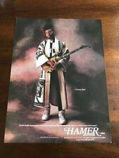 1990 VINTAGE 8X11 PRINT Ad FOR HAMER GUITARS VERNON REID OF LIVING COLOUR