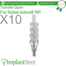 10 Dental Transfer Open Tray For Nobel Biocare, Active Hex RP, Dental Abutment