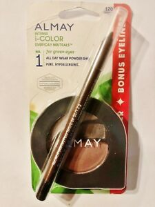 Almay Intense i-COLOR All Day Wear Powder Shadow EVERYDAY NEUTRALS 120 GREENS