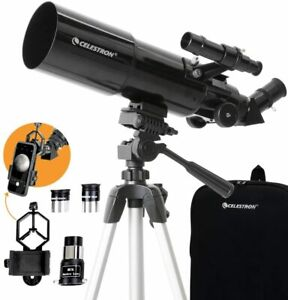 Celestron - 80mm Travel Scope - Portable Refractor Telescope - Fully-Coated Glas