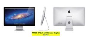 "Apple 27"" Thunderbolt Apple Cinema Display 16:9 LED Monitor Bildschirm Screen"