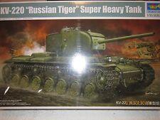 KV-220 RUSSIAN TIGER SUPER HEAVY TANK 1/35 BY TRUMPETER