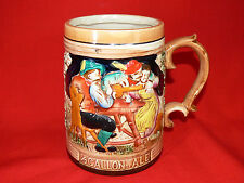 VINTAGE Large Ceramic Beer Stein ½ GALLON OF ALE Made in Japan RETRO BAR/MANCAVE