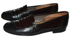 Bally Oxblood Leather Penny Loafers Slip-Ons Dress Shoes Size 9D (US)