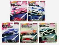 🔥Hot Wheels Premium FAST & FURIOUS QUICK SHIFTERS Cars Set of 5 GBW75 NEW 2020