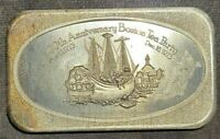 1973 One Ounce 1ozt Silver 200th Anniversary of the Boston Tea Party Bar Ingot