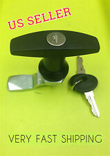 T Handle Cam Lock Polyamide (Black Coated), Quarter turn Part # 110.2.0.01.42