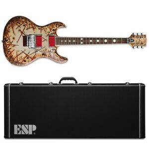 ESP E-II RZK-I Burnt Richard Z Electric Guitar + Hardshell Case RZK I RZKI
