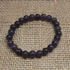 Amethyst  8mm Bead Bracelet -Stretch - Crystal Healing - Fast Free US Shipping