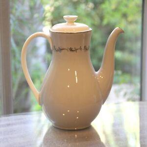 Royal Doulton Debut Pattern Coffee Pot Teapot Mid Century Drinkware Pitcher Fine Bone China Atomic Age Servingware Formal Dining Epoch Echo