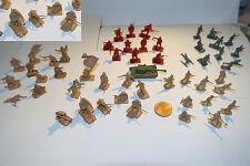 lote de 50 soldados de plastico antiguos años 70 / 80 dioramas montaplex