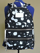 Marc By Marc Jacobs Blackest Multi White Dots Polyester Back Pack Book Bag NWT