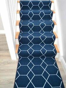 Really Long Blue Stair Runner Rug Narrow Stairway Carpets Dark Navy Rugs Cheap