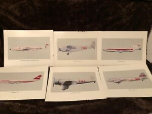 TWA Airplane Set of Posters Vintage Collectible